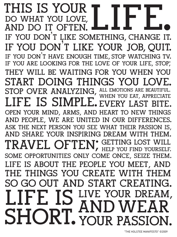 This Is Your Life Quote Amusing This Is Your Life Company Manifesto  Arleym