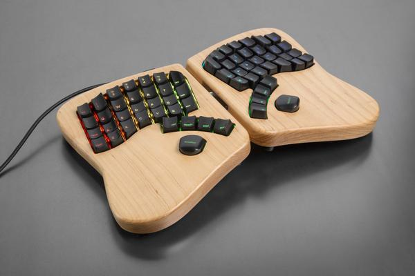 A keyboardio keyboard